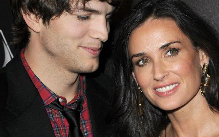 Ashton Kutcher and Demi Moore, he age 25, she 41. Were married for 6 years.