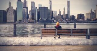 man snow-bench-man-person1