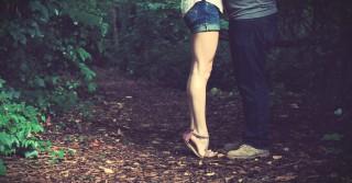 couple kissing legs 2