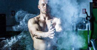 workout man chalk